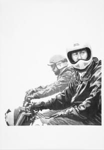 pencil drawing motorcycle art