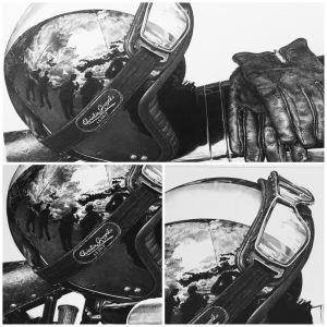 """""""motorcycle drawings"""" """"motorcycle art"""" """"biker art"""" motorcycle drawing """"crash helmet"""" """"classic bike"""""""