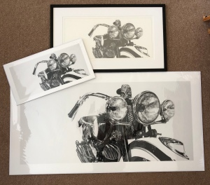 art print Giclée print motorcycle art pencil drawing
